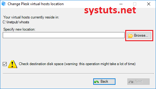 How To Change Virtual Hosts Location Plesk